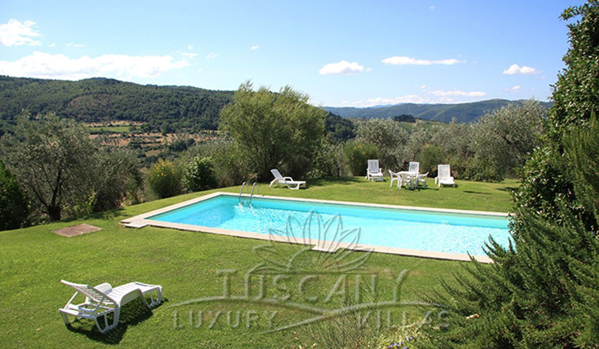 Luxury villa for sale in Florence hills with pool: Swimming pool