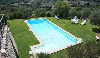Luxury villa for sale in Florence hills with pool: Plan